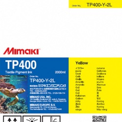 TP400 Pigment Ink 2Ltr Yellow - TP400-Y-2L-1