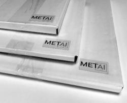"METAL Gloss Aluminium - RECTANGULAR 6"" x 8"" (10pk)"