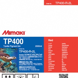 TP400 Pigment Ink 2Ltr Red - TP400-R-2L-1