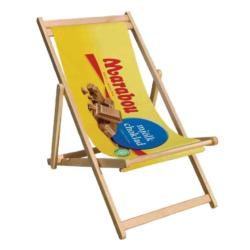 Deckchair - Wooden Frame With Printable Seat